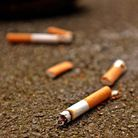 a stock image of cigarette butts
