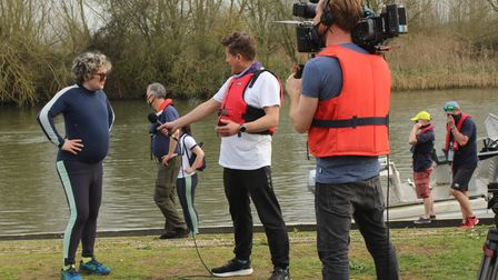 Isle of Ely Rowing Club filming with Mike Bushell from BBC Breakfast