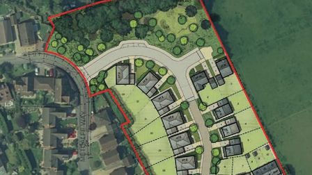 Plans submitted for land off Metcalfe Way in Haddenham include a road running through an established copse