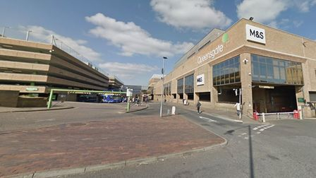 General view of Queensgate Shopping Centre in Peterborough