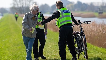Ely resident George Peacock was spoken to by police on the day of the Boat Race