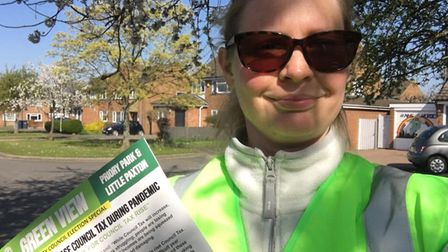 Green Party campaigning for in Cambridgeshire for this year's county council elections