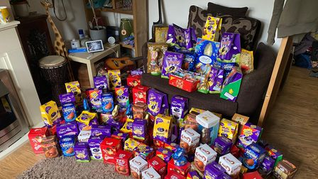 Community donations of chocolate for theDunmow And Surrounding Areas Pay It Forward appeal