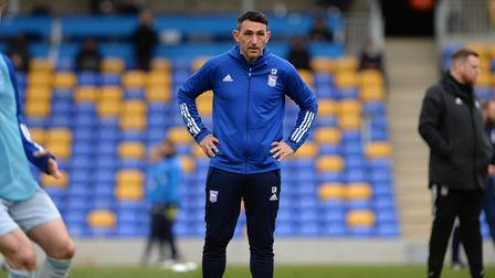 Gary Roberts during the warm-up before the game against AFC Wimbledon