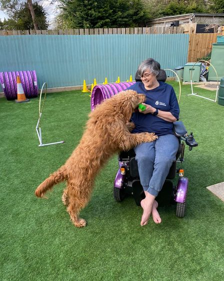 Philippa Sjoberg is also a dog trainer