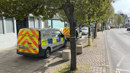 Police at the former KTV China City bar and restaurant in Norwich after a cannabis factory was discovered.