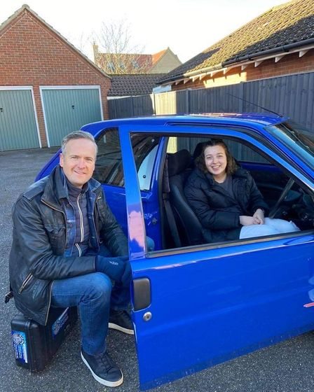 Senna with Car SOS presenter Tim Shaw in January this year
