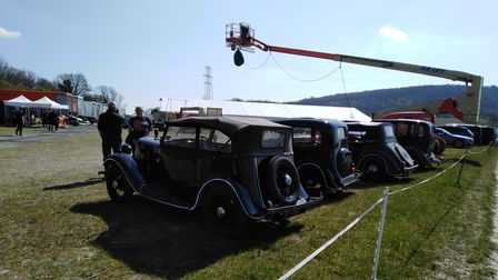 Pictures taken of the film site in Buckinghamshire for the mini TV series Master of the Air.