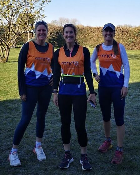 Naomi Ross ofGrange Farm & Dunmow Runners with friends
