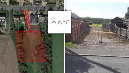 The site on land south of 85-89 Upwell Road has been granted outline planning for six homes