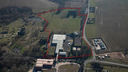 A red line marks out the 20-acre Little Wratting site to be called Stour Business Park