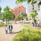 A cgi of the redevelopment of the estate
