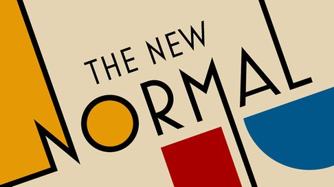 Logo for The New Normal podcast