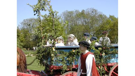 The May Day procession at Kentwell Hall in 2003