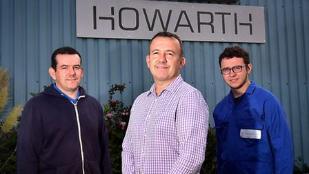 Howarth engineering firm at Rackheath. Left to right, Mark, Andrew and Will Randall.Picture: ANTONY