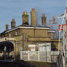 Saxmundham station was gutted by fire in 2018.