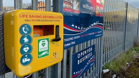 Family-run company Witham Oil and Paint Ltd has installed a defibrillator at their trade depot in Soham.