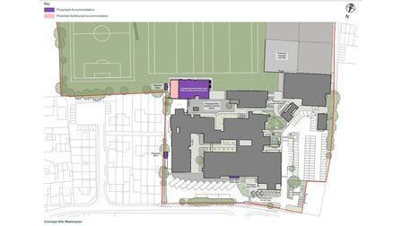 Suffolk County Council is consulting on proposals for Bungay High School. The concept site masterplan.