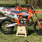 The orange KTM motocross were stolen between Tuesday night and Wednesday morning