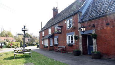 The Bull Freehouse in the centre of the village of Troston near Bury St Edmunds