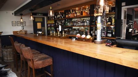 The bar at The Bull Freehouse in Troston near Bury St Edmunds