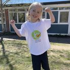 Billy Shulver did a sponsored walk and five-minute silence for Woodbridge's St Mary's C of E Primary School.