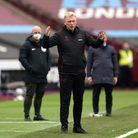 West Ham United manager David Moyes reacts on the touchline during the Premier League match at the L
