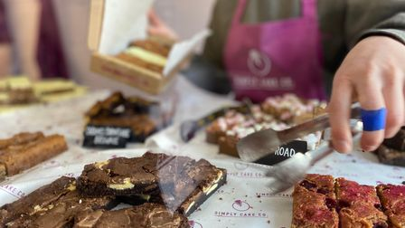 Simply Cake Co sells a variety of brownies and sweet treats.