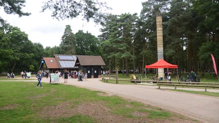 The Forestry Commission has been given a grant of £610, 300. Pictured is High Lodge in Thetford Fore