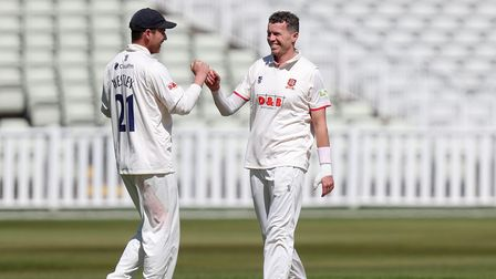 Peter Siddle of Essex celebrates taking the wicket of Warwickshire's Will Rhodes