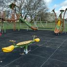 New equipment at the Grebe Drive play area in Chedgrave, near Loddon.