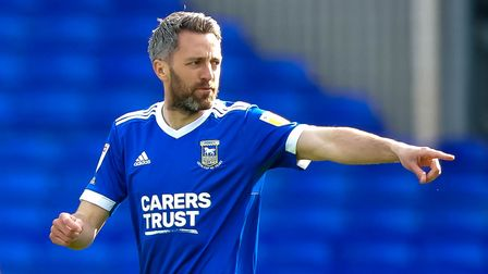 Cole Skuse organising the side after coming on as a second half substitution.
