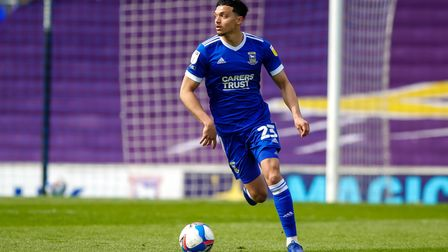 Andre Dozzell in action against AFC Wimbledon.