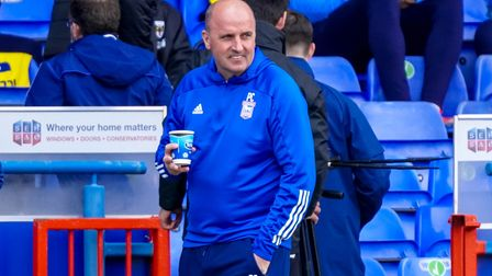 Town manager Paul Cook pictured ahead of the Town v AFC Wimbledon match.
