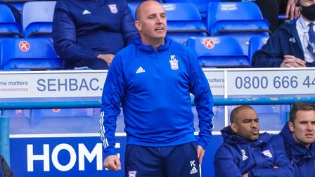 Town manager Paul Cook on the touchline.