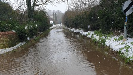 The view looking down Ringstead Road in Burnham Market, which is next to Church Walk/B1155 closed by
