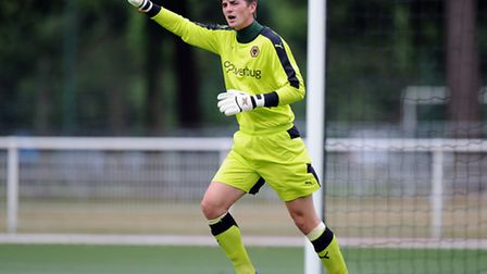 Wolves' goalkeeping talent Harry Burgoyne has temporarily joined Lowestoft. Picture: WOLVES FC