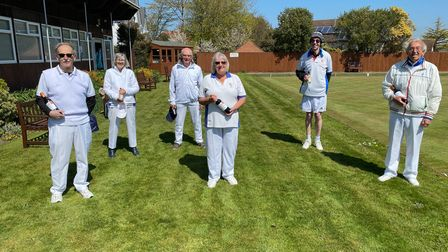 Round Robin winners at Budleigh bowls