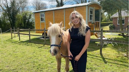 Daniella Furness with her horse Poppy outside of her new business Beauty Escape in New Buckenham.