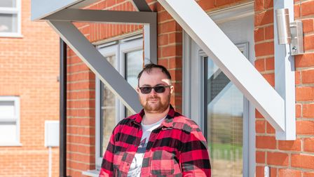 JosephWatson who is one of the new tenants to move into a home in Clarion Housing's Swannington development.