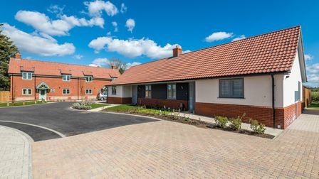 Clarion Housing Group's new 10 home social housing development in the village of Swannington