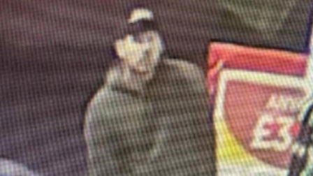 Suffolk police would like to speak to the man pictured in connection with two thefts in Newmarket