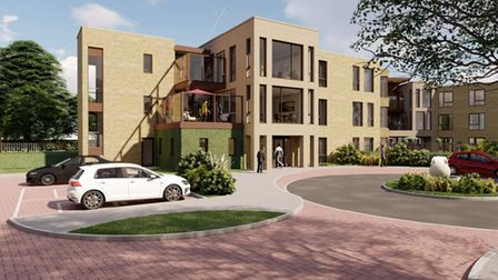 A view of the planned care home off Hempstead Road in Holt.
