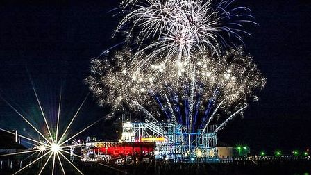 Clacton Pier will be celebrating its 150th birthday with a host of firework displays.