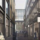 A computer generated image of what the Old Truman Brewery development could look like.