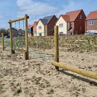 The fence surrounding the play area at Orchard Croft, in Diss, was mistakenly removed