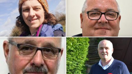 The four nominations for the Soham North and Isleham division in the 2021 Cambridgeshire County Council elections