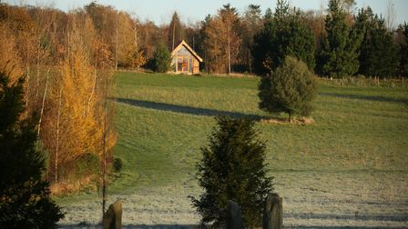 One of the five new eco-lodges at Chaucer Barn in Gresham