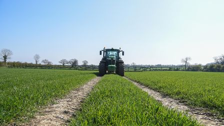 A crop sprayer at work on one of Sentry's Norfolk farms