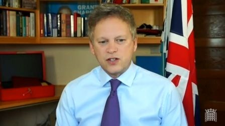 Transport Secretary Grant Shapps giving evidence to the Transport Committee on the subject of Respon